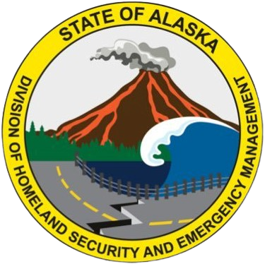 The seal of the State of Alaska.